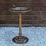 CLGarden Vogeltrnke VGT3 Vogelbad Vogel Trnke Bad mit Vogel auf der Wasserschale