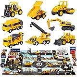 aovowog Engineering Baufahrzeug Spielzeug-Spielzeugautos Sets,mit Stadt Game...