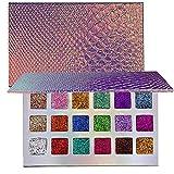 ROMANTIC BEAR 18 Farben Lidschatten Palette Super Glitzer Hochpigmentiert High End Make-up Palette