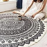 TIANLIYUN Innen und außen Cotton Retro Runden Teppich, Teppich Hängende Körbe, Matten Bett Decke,...