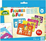 Lena 65750 Zeichenschablonen Set, mit 6 Schablonen mit je 1 Figur, dazugehöriger Kleidung und...
