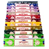Indian Arts Satya Nag Champa Om Shanti Räucherset C 12x15gram includes: Nag Champa, Superhit, Om...