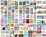 Edition Seidel Set 100 Postkarten Leben & Momente mit Sprüchen Karten mit Spruch Geschenk...