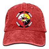 Vintage Denim Cap Hat Medicine Wheel Six-Panel Adjustable Sports Trucker Baseball Hat for Adults...