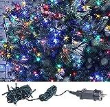 Lunartec LED Kette: LED-Lichterkette mit 40 LEDs für innen & außen, IP44, 4-farbig, 4 m...