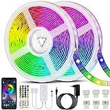LED Strip 20m, Bonve Pet RGB LED Streifen 600 LEDs, Farbwechsel LED Lichterkette mit Fernbedienung,...