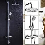 Duschsystem Duscharmatur mit Regendusche berkopfdusche und Handbrause Duschsule Duschset verchromt