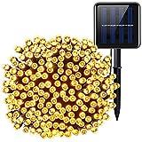 Faithvhk Outdoor Solar Lichterketten, 72ft 200 Led Garten Solar Lichterketten, Wasserdicht 8 Modi...
