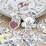 BLOUR 40 Stück/Los Lustiger Schädel Ausdruck DIY dekorative Papier Aufkleber Aufkleber für...