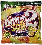 nimm2 soft Brause (1 x 345g) / Kaubonbons mit Brause-Füllung mit Fruchtsaft & Vitaminen
