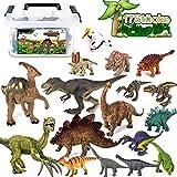 Tagitary 17 Stücke Dinosaurier Spielzeug Set Realistische Dinosaurier Figuren Modell für...
