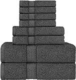 Utopia Towels - Handtuch Set aus Baumwolle - 2 Badetuch, 2 Handtücher und 4 Washclappen - 600 g/m²...