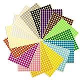 Runde Punktaufkleber,Farbetiketten 25mm Dot Klebepunkte 16 Farben/Blatt Farbkodierung Etikette 600...