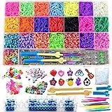 Bst4u DIY Loom Bänder Set, 6800 Gummibänder mit 22 Farben, 208 Zubehör, Loom Twist Bands Kit für...