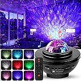 LED Projektor Sternenhimmel Lampe, Swonuk Ozeanwellen Projektor mit Fernbedienung/Bluetooth...