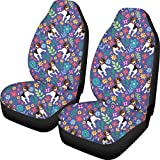 Bernice Winifred Niedliche Jack Russell Dog Print Autositzbezüge Winter Warm Front Seat Protector...