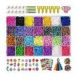 Innoo Tech Loom Bänder Set, Kinderspielzeug DIY Rainbow Gummibänder 10,000+ , 600 S-Clips, 160...