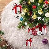 Alintor Weihnachtsbaumdecke, 78cm Christbaumdecke Weiß Plüsch Tannenbaum Decke,...