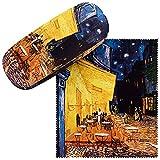 VON LILIENFELD Brillenetui Vincent van Gogh: Nachtcafé Geschenk Stabil Set mit Putztuch Damen...
