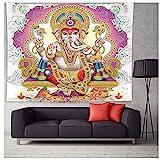 YTLSA Tapisserie Indischer Gott Thailand Religion Buddhismus Meditationsmatten Elefant Mandala...