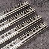 4 Stück Schubladenschienen EDELSTAHL Länge 374 mm Auszugsschienen | 17 mm Nut