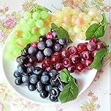 HANSHI Künstliche Weintrauben, künstliches Obst für Küche, Büro und als Fotorequisit, Grün,...