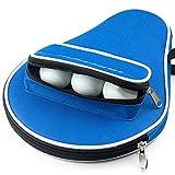 WASPEU Tischtennis-Tasche Oxford Tischtennisschlägerkoffer mit Reißverschluss