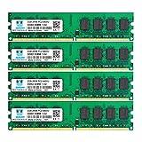 motoeagle DDR2 800 MHz UDIMM PC2-6300 PC2-6400U 8GB Kit (4x2GB) 1.8V 2Rx8 240-pin DIMM Desktop...