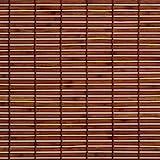 Liedeco Rollo Holz mit Seitenzug, Holzrollo für Fenster und Tür braun B 120 cm x L 17.