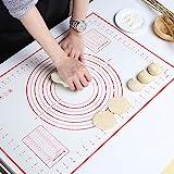 GWHOLE Silikonmatte Backmatte Silikon Teigmatte Wiederverwendbar Antihaft rutschfest mit Messung, 60...