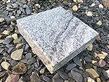 Stone & More Granitsockel Sockel aus Granit Grabsockel Trittstein Granitplatte Vhiscont White 20cm x...