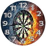 Kncsru Dartscheibe Runde Wanduhr Uhr Stille, Nicht tickende Uhr Dekorative, Elegante Kreis-Wanduhr