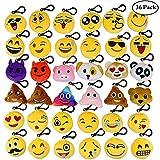 Aiduy Mini Emoji Plüsch Schlüsselanhänger 5CM Emoji Kissen Plüschtiere Party Favors für Babys...