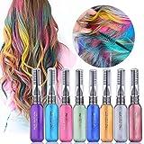 MS.DEAR Haarkreide, temporäre Haarfarbe, 8 Farben, sofortiges Haarkreide-Set,...