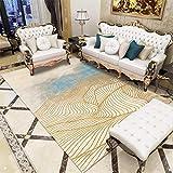 Vlejoy Moderner Teppich Schlafzimmer Teppich Wohnzimmer Couchtisch Einfache Beige Gold...