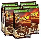 Nestlé LION Knusper-Müsli, mit Vollkorn-Haferflocken, Karamell und Schokolade, 5er Pack (5 x...