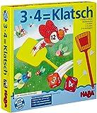 HABA 4538 - 3X4=Klatsch, lustiges Lernspiel für 2-6 Spieler ab 8 Jahren, Konzentrationsspiel zum...