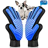Fellpflege Handschuh  maiphee Sanfter Pet Haar Entferner Glove  deShedding Brste Handschuh  Massage...