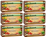 Humusziegel - torffreie Kokosblumenerde fr Aussaat und Anzuchterde ohne Dnger - 50 L - 6 x 600 g