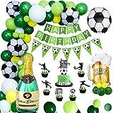 APERIL Fußball Geburtstagsdeko Jungen Luftballons Geburtstag Dekorationen Grün mit Happy Birthday...