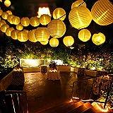 Qedertek Solar Lichterkette Lampion Außen 6 Meter 30 LED Laternen 2 Modi Wasserdicht Solar...
