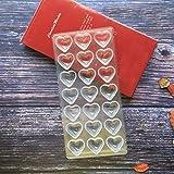 Etern Transparent Schokoladenform, Pralinenform Backform Backzubehör aus Polycarbonat, für...