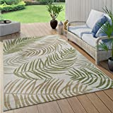 Paco Home In- & Outdoor Teppich Flachgewebe Modern Jungle Palmen Design In Pastell Grün,...
