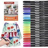 Waschmaschinenfeste Textilmarker, 20 Wasserfeste Textilstifte in leuchtenden Farben, Nicht Giftige...