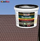 Dachfarbe Sockelfarbe Dachbeschichtung Dachlack Dachsanierung Polymermembran 12 kg Braun