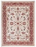 Carpeto Orientteppich Teppich Creme 120 x 170 cm Ornamente Muster Ayla Kollektion