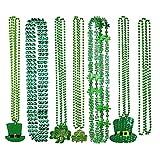 Bangcool 7PCS Partei-Halsketten-Art- und Weiseperlenhalsketten-Charme-Halskette für St Patrick Tag