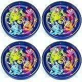 German Trendseller® - 4 x Monster Spiel Labyrinth ┃ Geschicklichkeitsspiel ┃ Monster Party ┃...