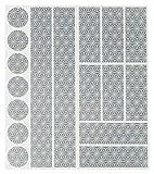 Reflektoren Aufkleber Sticker (17 Stück) HiPerformance Reflexfolie Set zur Sicherungs-Markierung...