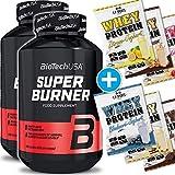 BioTech USA Super Burner 2er Pack, (240 Kapseln) + 6x C.P. Sports 25g Whey Testbeutel gratis hoch...